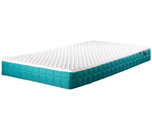 Lattoflex Kindermatratze inkl Lattenrost Kinderbett 100 x 200 cm, waschbarer Bezug, leichte Hygiene, schadstoffgeprüft Ökotex Standard 100