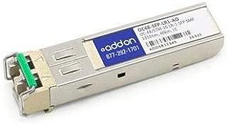 Addon OC48-SFP-LR1-AO SFP (mini-GBIC) transceiver module ( equivalent to: Brocade OC48-SFP-LR1 ) - LC single mode - up to 24.9 miles - OC-48/STM-16 LR-1 - 1310 nm - for Brocade NetIron MLX-16, MLX-4, XMR 16000, XMR 4000, Foundry NetIron MLX-8, XMR 8000