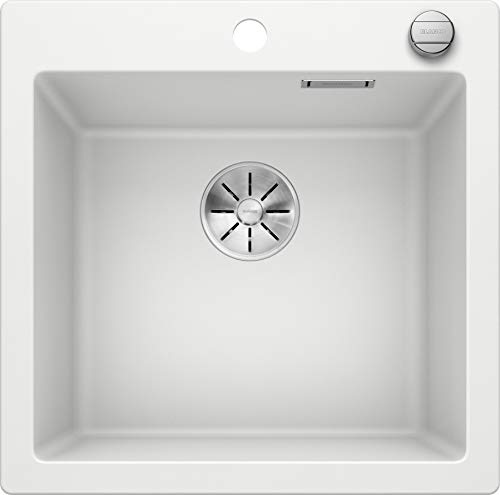 Blanco 523680 Pleon 5 Silgranit PuraDur - Desagüe con mando a distancia, color blanco