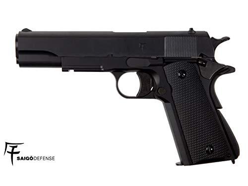 Saigo Airsoft Pistola 1911 - Gas- Semi Automático-Calibre 6mm. 1 Julio de Potencia MAX.