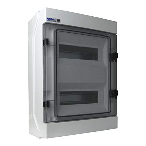 Feuchtraumverteiler Sicherungskasten Verteilerkasten RH-24 IP65 24 Module Aufputz VDE 4088