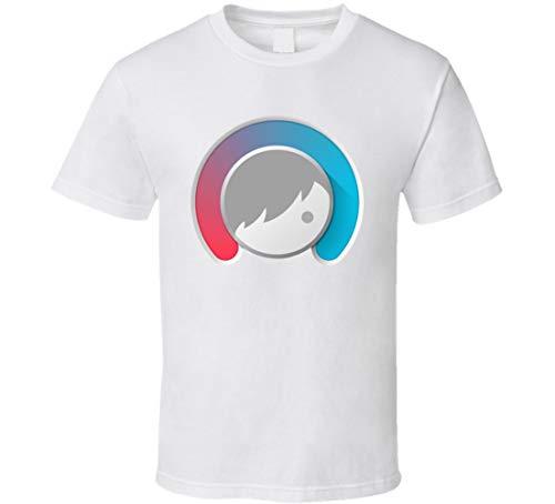 Facetune Selfie Image Photo Editing App Icon Logo Fan T-Shirt weiß Gr. L, Schwarz