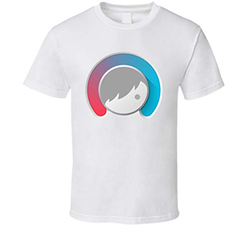 Facetune Selfie Image Photo Editing App Icon Logo Fan T-Shirt weiß Gr. XL, Schwarz