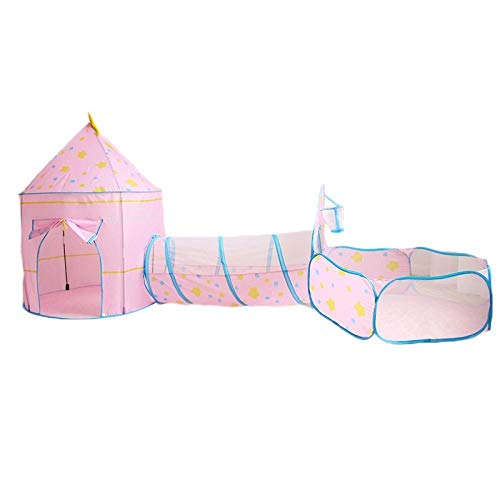 CYONGYOU Children's tunnel 3 in 1 toy tent foldable ocean swimming pool small house