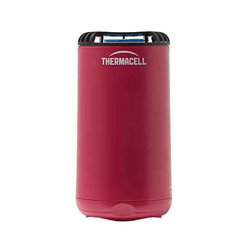 Thermacell Patio Shield Mosquito Repeller, Magenta; Effective Mosquito Repellent for Patio; No Candles or Flames, Scent-Free, DEET-Free Bug Spray Alternative; Includes 12-Hour Refill