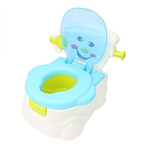 GOTOTOP Vasino da Toilette per Bambini sicuri,Vasino per Bambini in PP,con Schiena sicura e Maniglia Antiscivolo,atossiche, sicure ed ecologiche,36 x 43 x 34 cm,Colore Blu