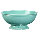 Cambria Footed Serve Bowl - Turquoise | Pottery Barn