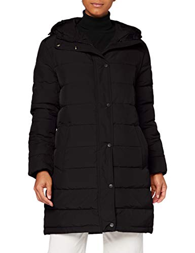 Wrangler Womens Long Puffer Jacket, Black, M
