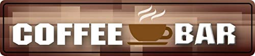 Metalen bord straatbord 46x10cm koffie koffie bar koffie bord