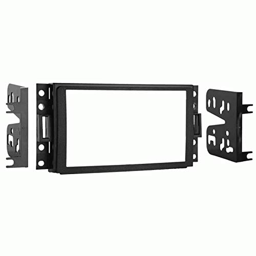 Carxtc Double Din Install Car Stereo Dash Kit for a Aftermarket Radio Fits 2006-2010 Hummer H3 Trim Bezel is Black