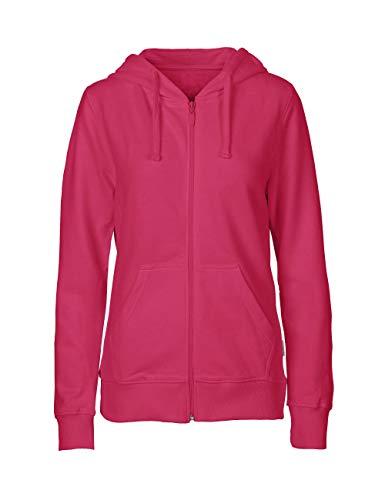 Green Cat Damen Kapuzenjacke, 100% Bio-Baumwolle. Fairtrade, Oeko-Tex und Ecolabel Zertifiziert, Textilfarbe: pink, Gr.: S