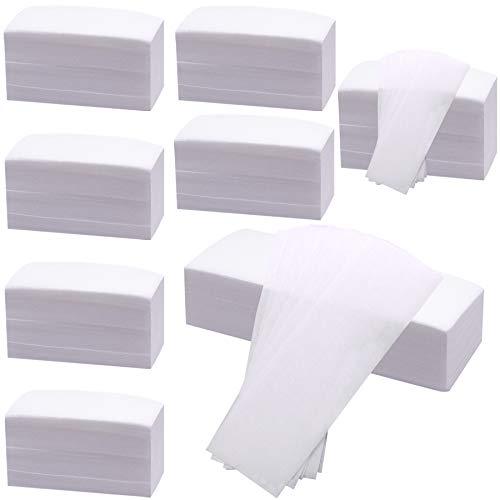 BQTQ Vliesstreifen 800 Stück Wachsstreifen Papier Haarentfernung Wachsstreifen für Beine Rücken Gesicht, 2 Größen