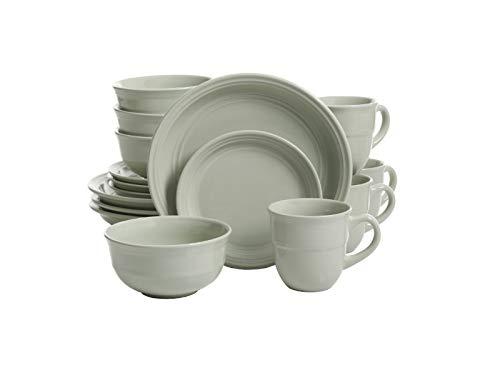 Mainstays 16-Piece Round Dinnerware Set in Green