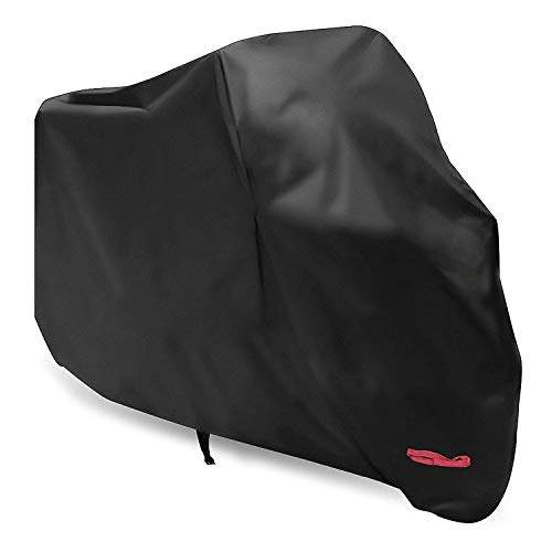 Motorcycle Cover,WDLHQC Waterproof Motorcycle Cover All Weather Outdoor Protection,Oxford Durable & Tear Proof,Fit for 105 inch Motors