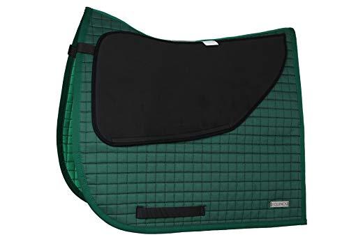 EQUINOS Schabracke Dunkelgrün mit polsterbaren Taschen passend auch für Deuber & Partner Sättel mit Barockkissen
