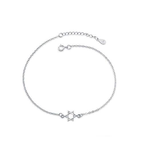 1 pulsera para mujer de seis puntas con accesorios de cadena de extensión