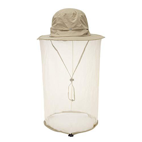 Minasan - Sombrero de red con mosquitera, protección UV, sombrero de pesca, safari, mosquitera, para hombre y mujer caqui Talla única