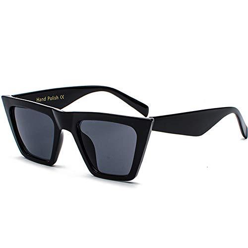 SHEEN KELLY Gafas de sol planas para hombres y mujeres Gafas de sol cuadradas de diseñador retro Gafas de sol de estilo claro Gafas de sol transparentes UV400