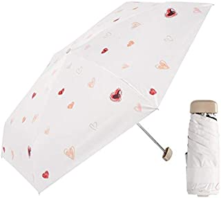 WHPSTZ Umbrella Automatic Children's Umbrella Female Baby Sunscreen Boys Pupils Folding Light Kids Kindergarten Ultralight Cartoon Umbrella (Color : White)