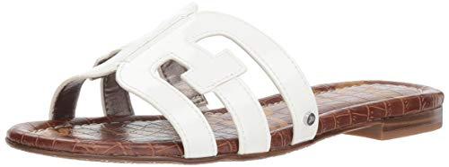 Sam Edelman Bay Classic Slide Sandale für Damen, Weiá (Hochweißes Lack.), 36.5 EU