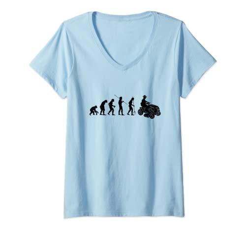 Mujer Tractor cortacésped Evolution Camiseta Cuello V