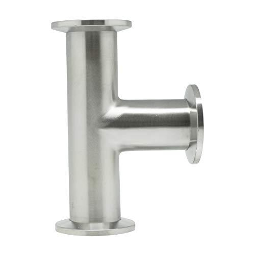 QiiMii Vacuum Fittings - KF-25 Tri Clamp Tee 3 Way Stainless Steel SS304
