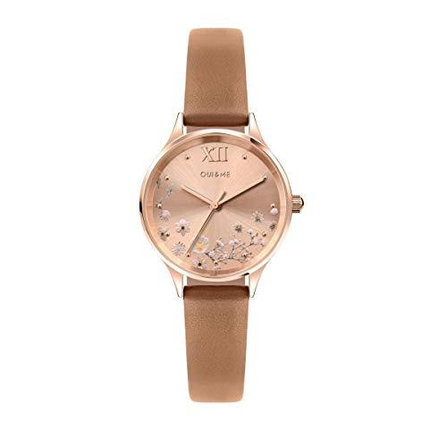 Oui & Me Reloj Analógico para Mujer de Cuarzo con Correa en Cuero ME010238