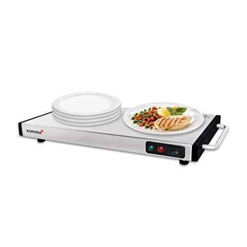 Korona 59500 Warmhalteplatte 1100 Watt max. zum Warmhalten von Speisen | kabellos nutzbar | 40 x 20 cm