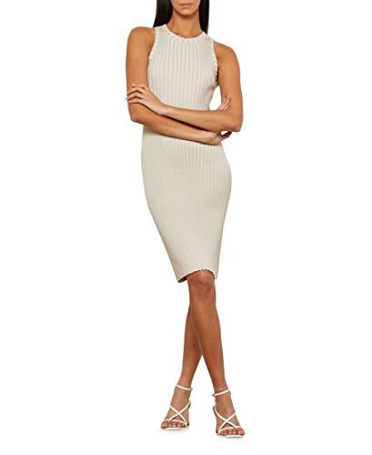BCBGMAXAZRIA Vestido ajustado acanalado para mujer - gris - Large