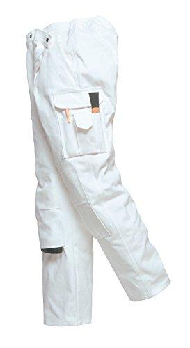 Portwest Pantalon de peintre, pantalon de travail, peintre., Blanc., S