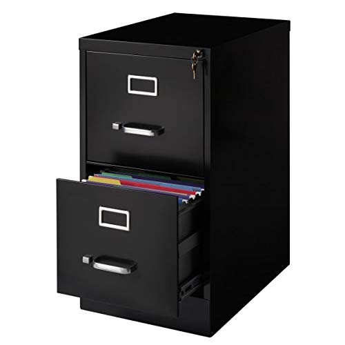Cooper 2 Drawer Letter File Cabinet in Black