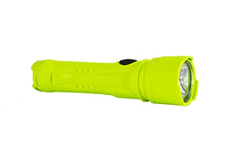 Brightstar Razor Work Safe LED Flashlight – Intrinsically Safe and Waterproof Torch for Industrial and Emergency Use – Made in USA – Hi Viz Green, 60101-GREEN