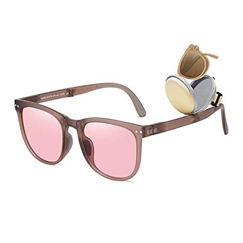 HQPCAHL Gafas De Sol Plegables Unisex con Estuche Original Gafas Plegables con Estuche Gafas De Sol Transparentes Plegadas,D