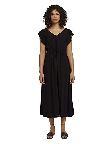 TOM TAILOR Denim Damen 1024995 Feminine Kleid, 14482-Deep Black, M