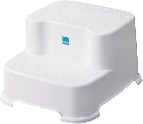 YZH - Sgabello leggero e portatile a 2 gradini, in plastica PP, spessore antiscivolo, sgabello da bagno, sgabello basso per lavabo, 31 x 34 x 20 cm