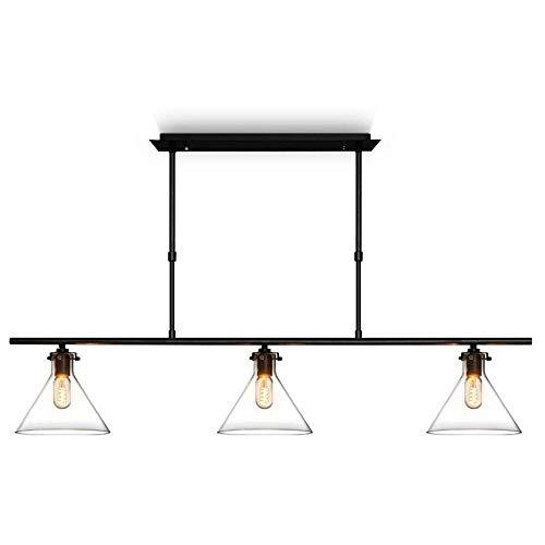 Tres industrial lámpara de la lámpara for la Navidad Estilo de cristal Isla de cocina de la vendimia de la lámpara E27 / E26 Techo suspendido Iluminación pendiente de comedor / sala de estar / Oficina