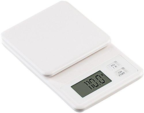 Rosenstein & Söhne Extra schlanke digitale Küchenwaage, bis 2 kg, Tara-Funktion