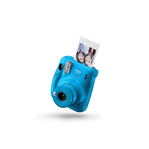 Fujifilm instax Fotocamera Istantanea mini 11, senza Custodia, Blu (Capri Blue) [Amazon Exclusive]