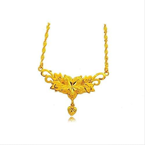 LDKAIMLLN Co.,ltd Collar de Moda Brillante Collar de Flores Grandes Colgantes para Mujeres Collares chapados en Oro para Mujeres para Damas Elegantes Regalos de joyería
