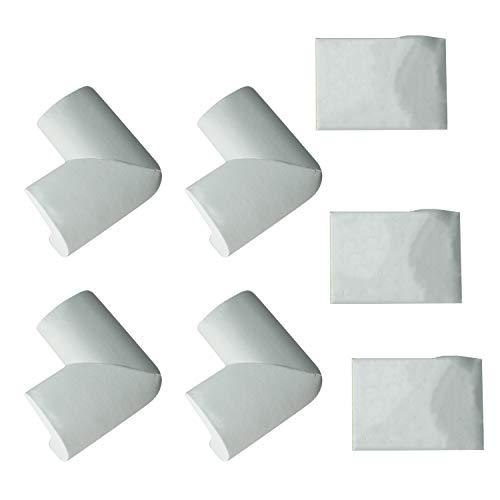 Cuasting 4 cojines de seguridad para bebés en la esquina – protectores de mesa – seguros para – blanco