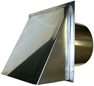 Steel Deluxe Dryer Vent with Weather Seal Damper (Stainless Steel)
