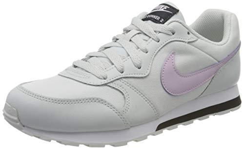 Nike MD Runner 2 (GS), Running Shoe Unisex-Child, Morado (Photon Dust/Iced Lilac-Off NOI 019), 37.5 EU