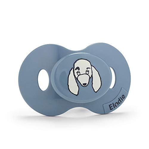 Elodie Details Chupete para Bebé de 3 meses - Rebel Poodle Paul, Azul