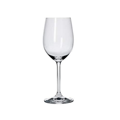 La Porcellana Bianca - Novello Calice per vino bianco in vetro sonoro cristallino trasparente, altezza 21 cm, capacità liquido 340 ml