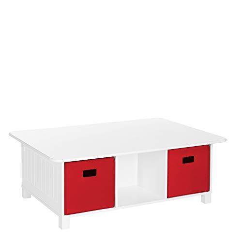 RiverRidge Home Kids 6 Cubby Storage 2pc Activity Table,...