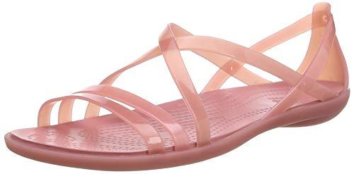 Crocs Isabella Strappy Sandal Women, Punta Aperta Bambina, Rosa (Blossom 682), 34 EU
