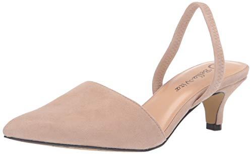 Bella Vita Women's Sarah Slingback Dress Shoe Pump, Almond Kidsuede Leather, 6 2W US