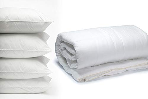 Home & Bath Co 3.0 Tog Duvet 100% Cotton Cover Hollowfibre Filling All Bed Sizes Light & Comfortable Sizes Made in The UK (King)