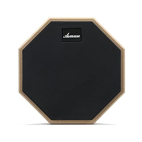 Drum Pad Asmuse Drum Pad Übungspad 8 Zoll Drum Practice Pad für Übe das Trommeln Schwarz