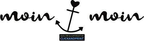 CLICKANDPRINT Aufkleber » Moin Moin, 20x4,7cm, Schwarz • Dekoaufkleber/Autoaufkleber/Sticker/Decal/Vinyl